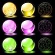 Royalty-Free Stock Vector Image: Set of glosssy spheres