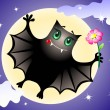 Cute bat — Vector de stock