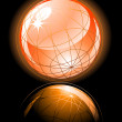 Royalty-Free Stock Vector Image: Orange shiny globe