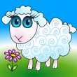 Royalty-Free Stock Vector Image: Cute sheep