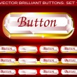 Stock Vector: Vector brilliant buttons. Set 1