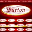 Vector brilliant buttons. Set 2 — Stock Vector
