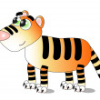 Stock Vector: Cute tiger