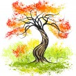 Vetorial Stock : Autumn tree