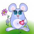 Cute mouse — Vector de stock