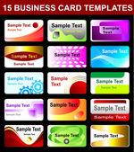 Set van de sjablonen voor visitekaartjes — Stockvector