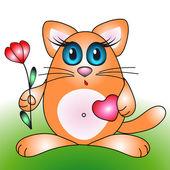 Roztomilý kočka — Stock vektor