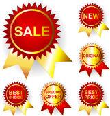 Promo stickers. Vector — Vector de stock