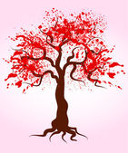 Blooming tree — Stock Vector