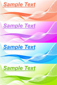 Set of 4 banner backgrounds — Stock Vector