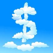 Cloudy dollar symbol — Stockvektor