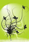 Soyut çiçek arka plan — Stok Vektör