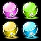 Ensemble de sphères brillants — Vecteur