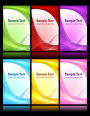 Set of beautiful backgrounds — Stock Vector
