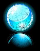 Blue shiny globe — Stock Vector