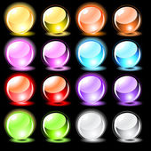 Set of glossy spheres — Stock Vector