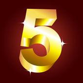 Number five — Stock Vector