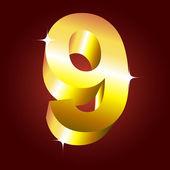 Nummer neun — Stockvektor