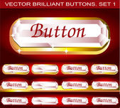 Vector brilliant buttons. Set 1 — Stock Vector