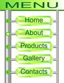 Web menu buttons set — Stock Vector