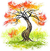 Autumn tree — Vector de stock