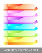 Web menu glass buttons set — Stock Vector