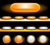 闪亮按钮设置 — 图库矢量图片