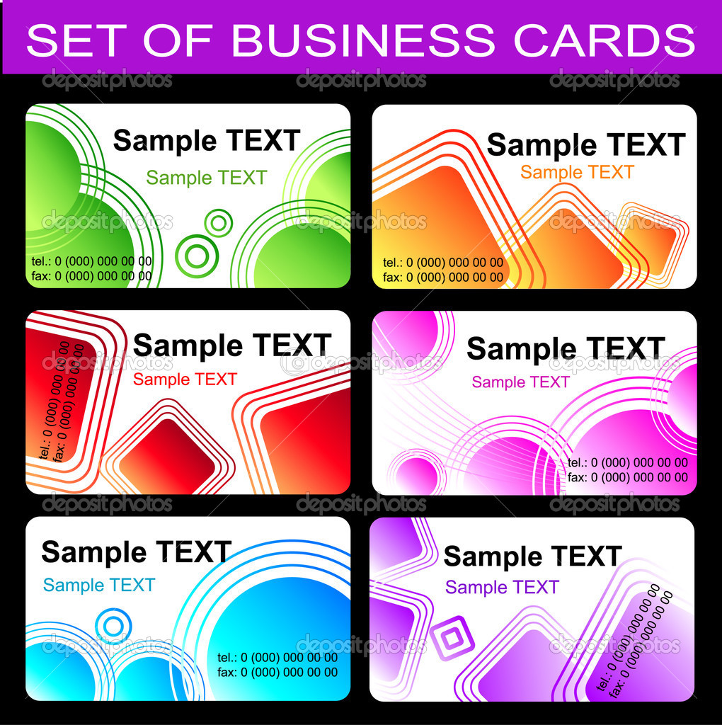 Set of business card templates. Vector — Stock Vector #1185015