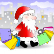 Royalty-Free Stock Vector Image: Shopping santa claus