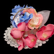 Stock Photo: Artificial handmade roses