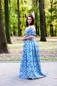 Lady in blue — Stockfoto