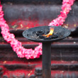 Royalty-Free Stock Photo: Burning flame in Hindu temple