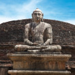 Ancient sitting Buddhimage — Stock Photo #1086704