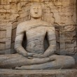 Ancient sitting Buddha image — Foto de Stock