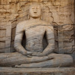 Ancient sitting Buddha image — ストック写真