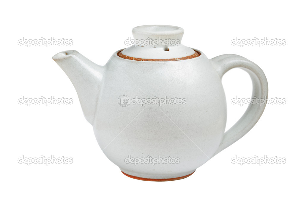 Chinese tea pot isolated on white background  Stock Photo #1083315