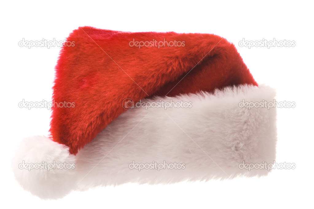 Santa's red hat isolated on white — Stock Photo #1083368