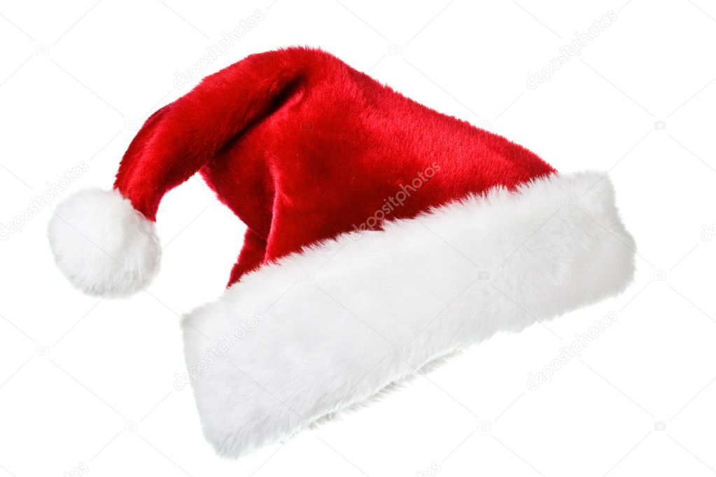 Santa's red hat isolated on white  Stock Photo #1084297