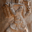 Bas relief in ancient Hindu temple depic — Foto de Stock