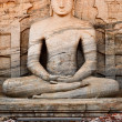 Ancient sitting Buddha image — Foto Stock