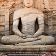 Ancient sitting Buddha image — Stock Photo