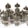 Vacuum tubes on white background - Photo