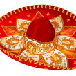 Red sombrero isolated — Stock Photo