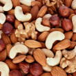 Assorted nuts (almonds, filberts, walnut - Stock Photo