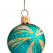 Christmas bauble isolated — Stock Photo