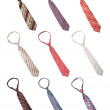 Set of man ties isolated — Stock Photo #1093513