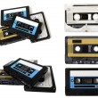 Audio cassette (tape) isolated — Stockfoto #1093537