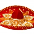 Red sombrero isolated - Stock fotografie