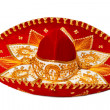 Red sombrero isolated - Stock Photo