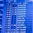 Stock Photo: Depature schedule board in asiairport